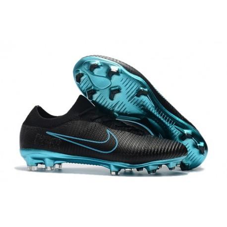 Scarpe da Calcio Nike Mercurial Vapor Flyknit Ultra FG - Nero Blu