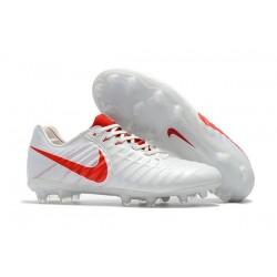 Nike Tiempo Legend 7 FG Scarpa Canguro - Bianco Rosso