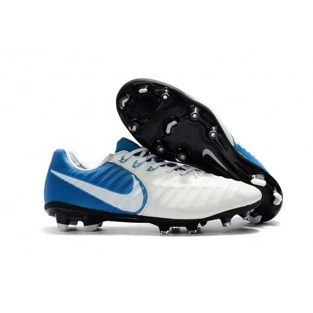 Scarpe da Calcio Nuovo Nike Tiempo Legend VII FG - Bianco Blu