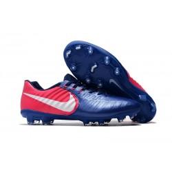 Scarpe da Calcio Nuovo Nike Tiempo Legend VII FG - Blu Rosa