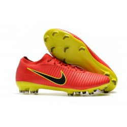 Scarpe da Calcio Nike Mercurial Vapor Flyknit Ultra FG - Rosso Negro