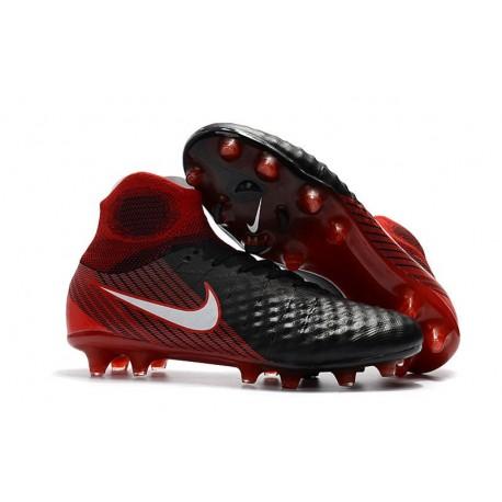 Nike Magista Obra II FG Scarpa da Calcio Nero Rosso