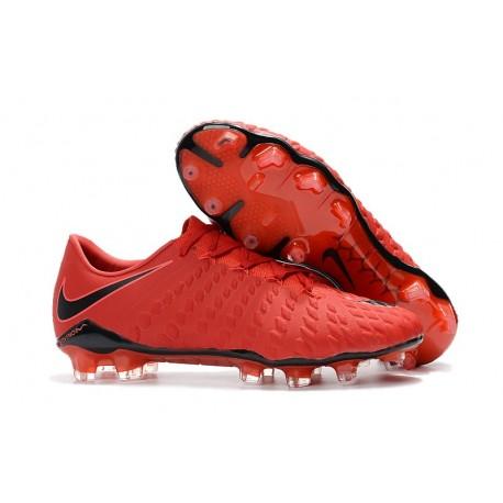 Nike HyperVenom Phantom III FG Scarpa da Calcio - Rosso Nero