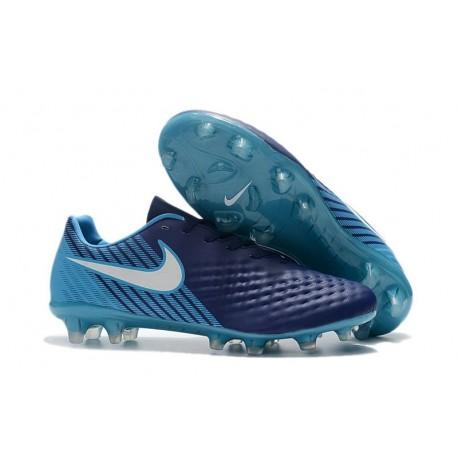 Scarpe da Calcio Nike Magista Opus II FG ACC Blu Bianco
