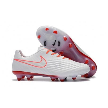 Scarpe da Calcio Nike Magista Opus II FG ACC Bianco Arancio