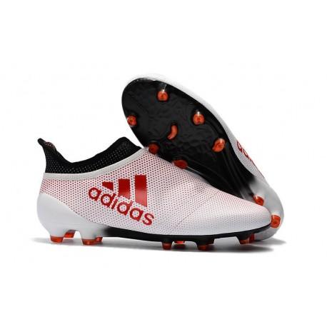 Scarpe da Calcio Uomo adidas Adidas X 17+ Purespeed FG - Bianco Rosso