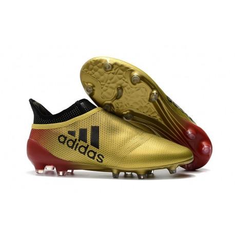 Scarpe da Calcio Uomo adidas Adidas X 17+ Purespeed FG - Oro Rosso