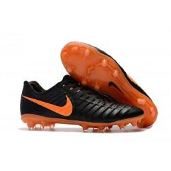 Scarpe da Calcio Nuovo Nike Tiempo Legend VII FG - Nero Arancio