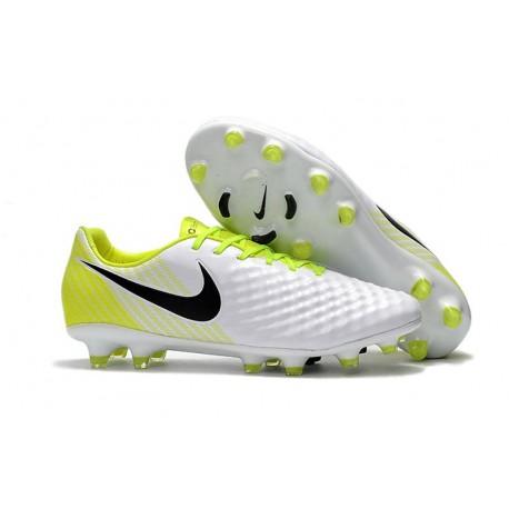 Nike Magista Opus 2 FG Nuovo Scarpa da Calcio - Bianco Giallo