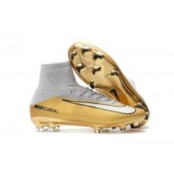 Nike Mercurial Superfly 5 DF FG ACC CR7 Quinto Triunfo Scarpa -Oro Bianco