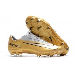 Nike Mercurial Vapor XI FG Nuovo Scarpa da Calcio - Bianco Oro