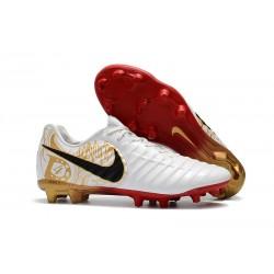 Scarpe da Calcio Nuovo Nike Tiempo Legend VII FG - Bianco Oro Nero