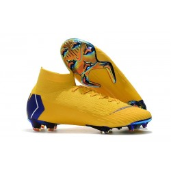Nike Mercurial Superfly 6 Elite DF FG Scarpe Calcio - Giallo Blu