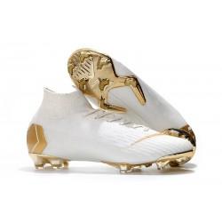 Nike Mercurial Superfly 6 Elite DF FG Scarpe Calcio - Bianco Oro