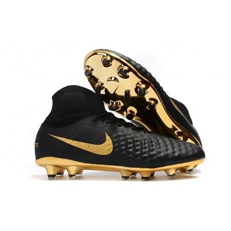 Nike Magista Obra II FG Scarpa da Calcio Nero Oro