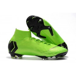 Nike Scarpa Mercurial Superfly VI Elite DF FG - Verde Negro