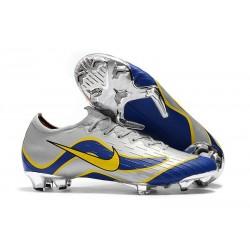Nike Mercurial Vapor XII Elite FG Scarpa da Calcio - Argento Blu Giallo