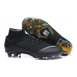 Nike Scarpa Mercurial Superfly VI Elite DF FG - Nero Bianco
