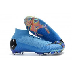 Nike Scarpa Mercurial Superfly VI Elite DF FG - Blu Nero