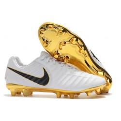 Nike Scarpe Calcio Tiempo R10 Bianco Oro