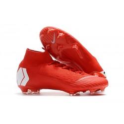 Nike Mercurial Superfly 6 Elite FG ACC Scarpe Calcio - Rosso Bianco