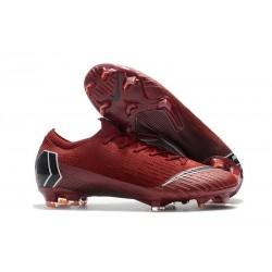Nike Scarpe Mercurial Vapor 12 Elite FG ACC Uomo - Rosso Nero