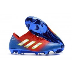 Coppa del Mondo 2018 adidas Nemeziz Messi 18.1 FG - Blu Rosso Argento