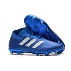 adidas Nemeziz 18+ FG Scarpa da Calcio Uomo - Blu Bianco