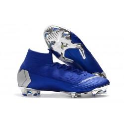 Nike Mercurial Superfly 6 Elite FG ACC Scarpe Calcio - Blu Argento