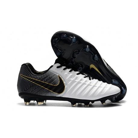 Scarpa da Calcio Nike Tiempo Legend 7 Elite FG - Bianco Nero Oro