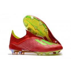 adidas X 18+ FG Scarpe da Calcio - Rosso Verde