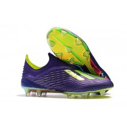 adidas X 18+ FG Scarpe da Calcio - Viola Verde