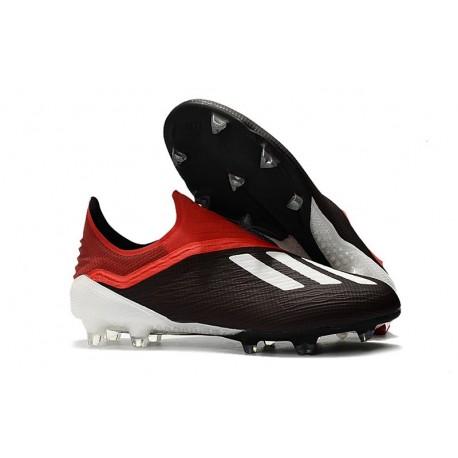 adidas X 18+ FG Scarpe da Calcio - Nero Bianco Rosso