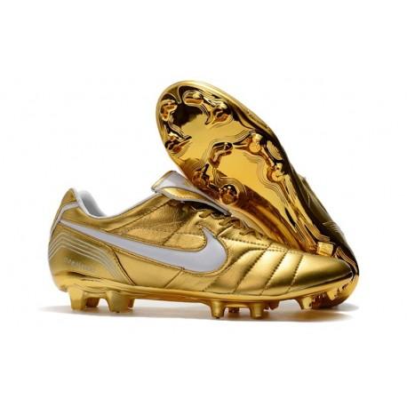 Scarpa da Calcio Nike Tiempo Legend 7 R10 Elite FG - Oro Bianco