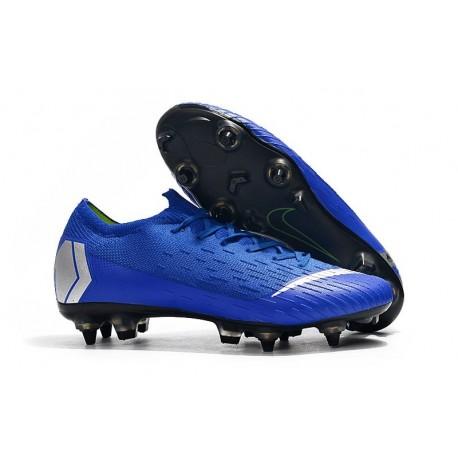Scarpa Nike Mercurial Vapor 12 Elite AC SG-Pro Blu Argento