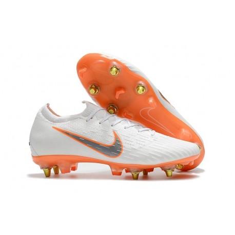 Scarpa Nike Mercurial Vapor 12 Elite AC SG-Pro Bianco Arancio