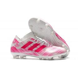 Scarpe adidas Nemeziz Messi 18.1 FG - Rosa Bianco