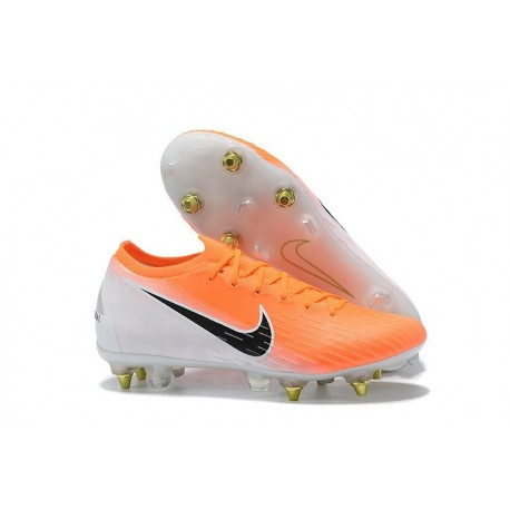 Nike Scarpe Mercurial Vapor XII SG-Pro Anti Clog Arancione Bianco
