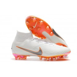 Nike Mercurial Superfly 6 Elite AG-Pro Bianco Arancione
