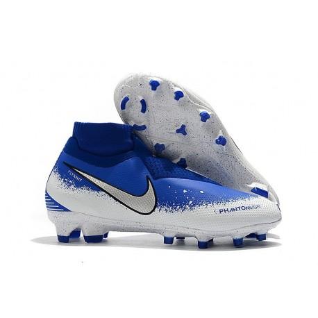 Nike Phantom Vision Elite DF FG - Blu Bianco